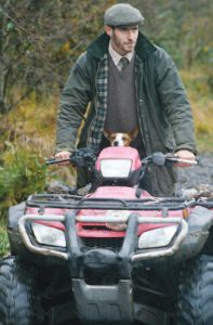 Gamekeeper Baptiste and dog Guya